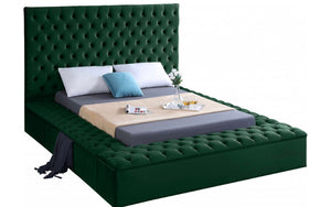 Bliss Velvet Bed in green color
