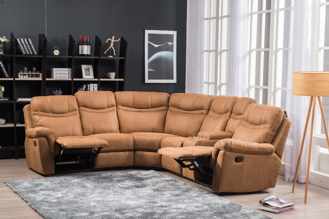 Beige Reclining Sectional Sofa For Living Rooms - RAZOUTLETS WAREHOUSE