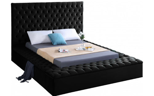 Modern Bliss Velvet Bed