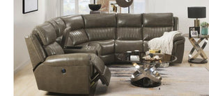 Power Motion Taut Leather Sectional Sofa in razoutlets