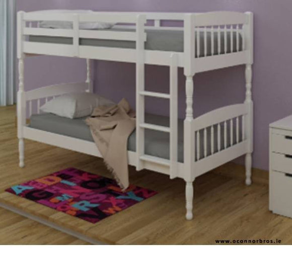 White Bunk Bed With Two Mattresses