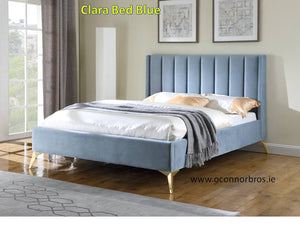 Clara 5' Pink Blue King Bed Complete
