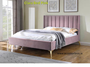 Clara 5' Pink King Bed Complete
