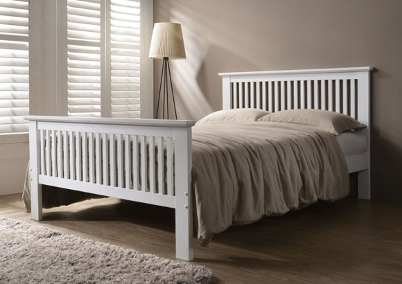 DENVER WHITE 4FT6 Bed Frame