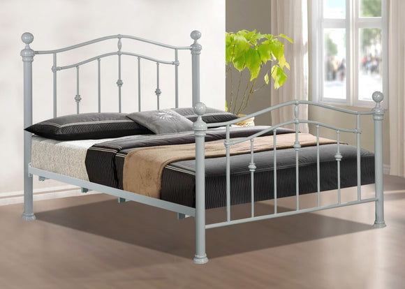 ELIZABETH 4ft6 GREY Bed Frame With Mattress