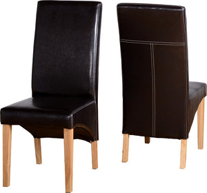 G1 Chair in Brown Faux Leather
