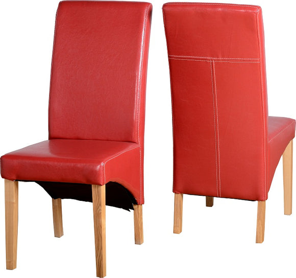 G1 Chair in Rustic Red Faux Leather