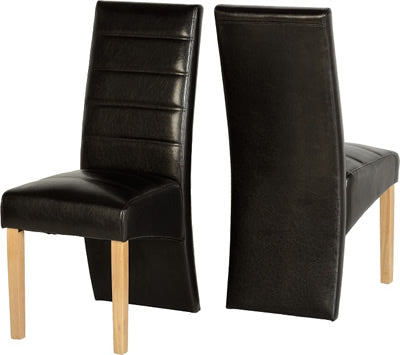 G5 Chair in Black Faux Leather