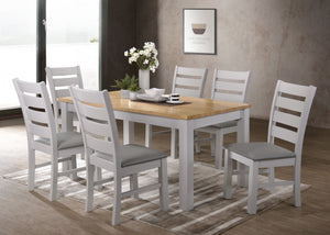 Hamshire 5' Dining Set Grey & Oak (Soft Seats)