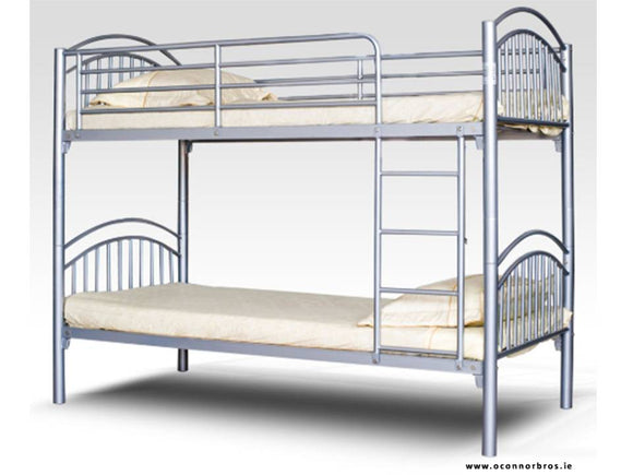 Silver Metal Bunk Bed | Frame |