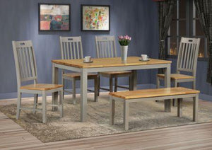 Nappa 5' Grey & Oak Dining Set