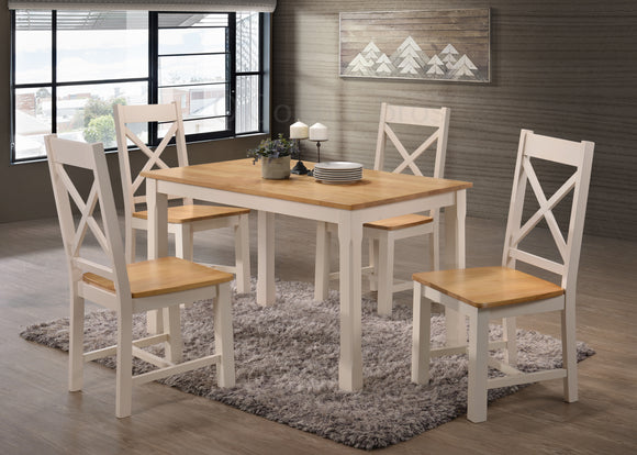 Rochester 4' Cream Dining Set