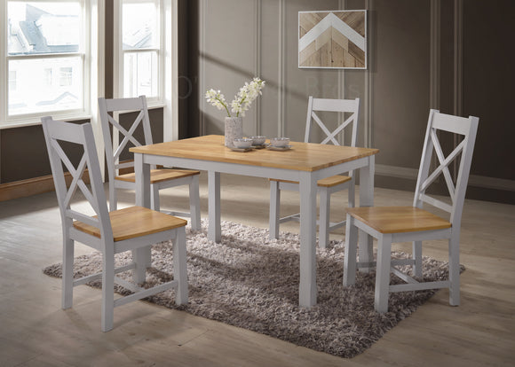 Rochester 4' Grey Dining Set