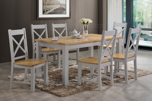 Rochester 5' Grey Dining Set