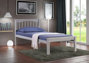 Sandra 3ft Grey Bed WITH MATTRESS