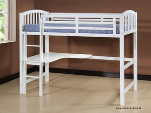 Study Bunk Bed White | Frame |