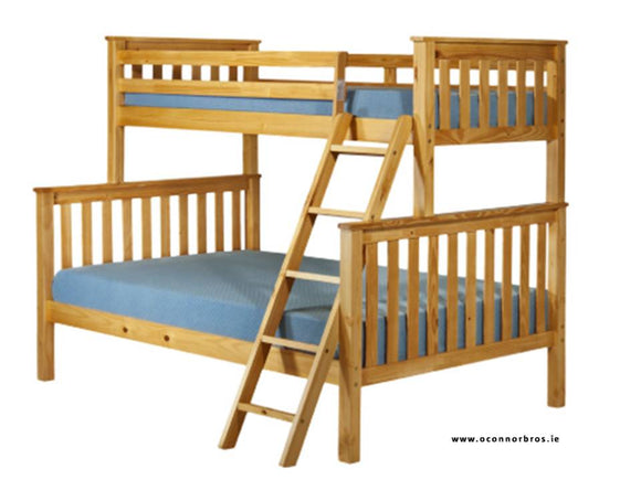 Triple Bunk Bed | Pine | With Two Mattresses