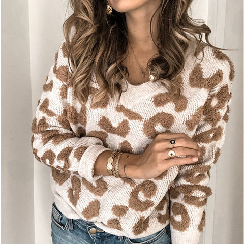 Women's Casual Round Neck Long Sleeve Sweater