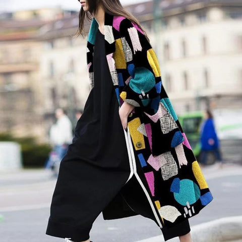 Lapel Printed Coat