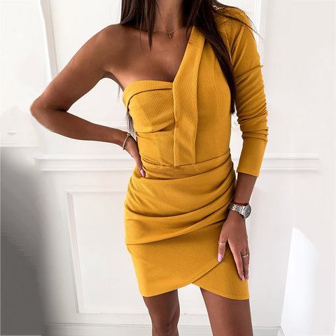 Sexy Half Sleeve Hip Dress