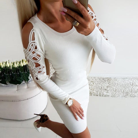 Women's Sexy Hollow Skinny Skinny Dress
