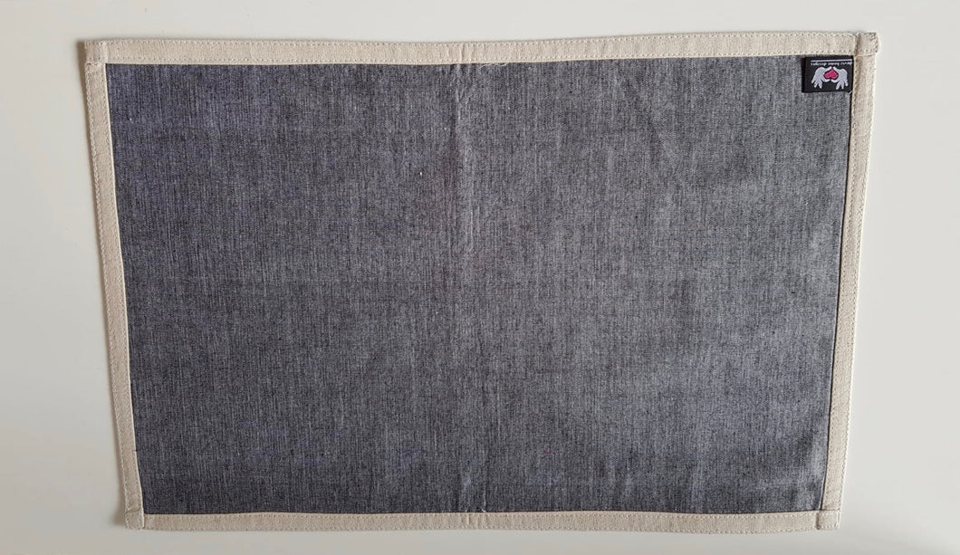Handwoven Grey Placemat