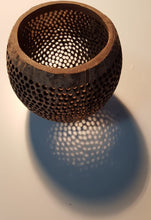 A coconut shell lamp