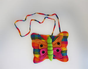 Multi Coloured Butterfly Bag