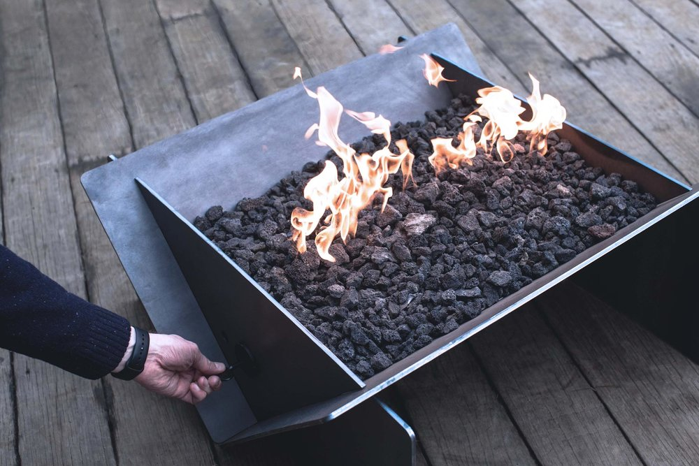 Stahl® Gas Firepit + Gas Burner Kit