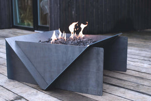 Stahl Gas Firepit + Gas Burner Kit