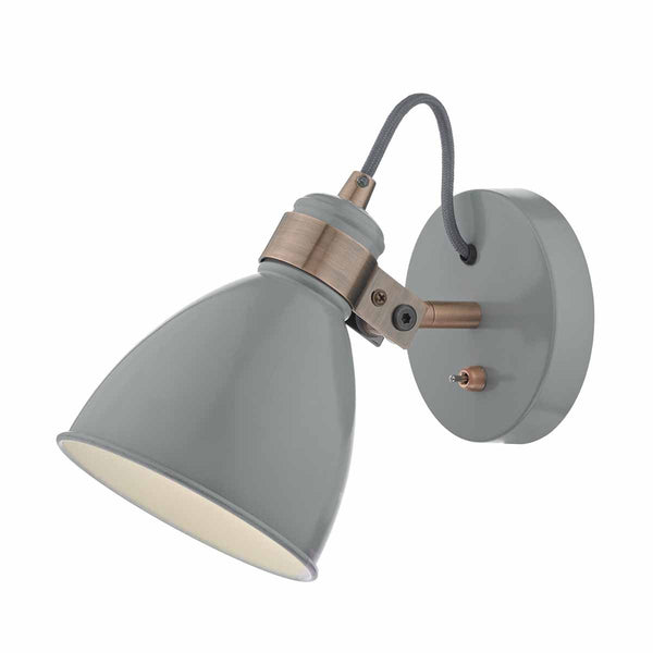 Frederick Wall Light Grey & Copper by Dar Lighting