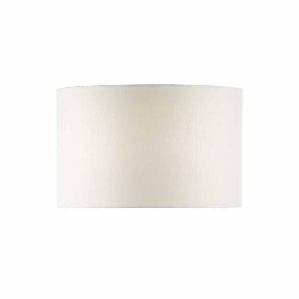 White 46cm Linen Drum Shade by Dar Lighting