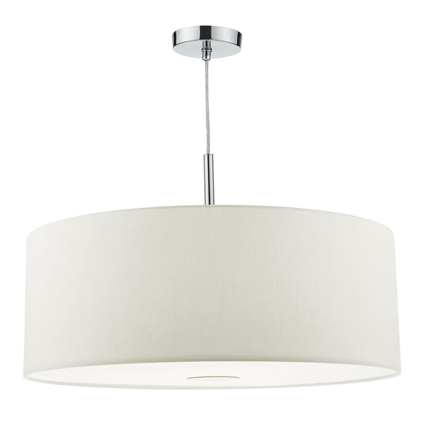 Ronda 3 Light Pendant 60CM White by Dar Lighting