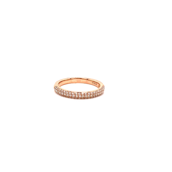 14 Karat Rose Gold Diamond Pave' Band
