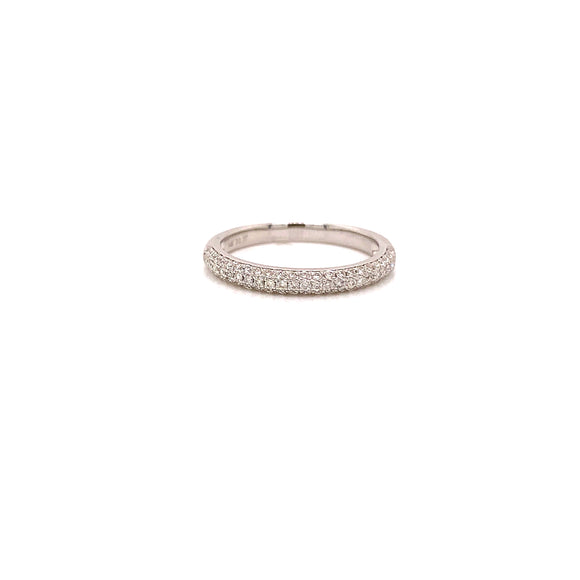 14 karat white gold 0.37 carats micro pave' diamond band