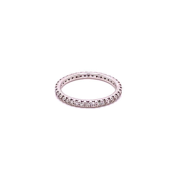 10 Karat White Gold Diamond Eternity Band