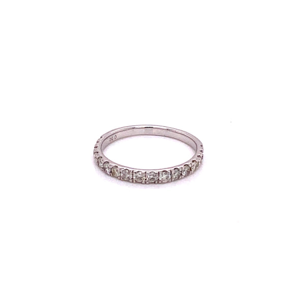 18 karat white gold 0.50 carat total weight diamond band