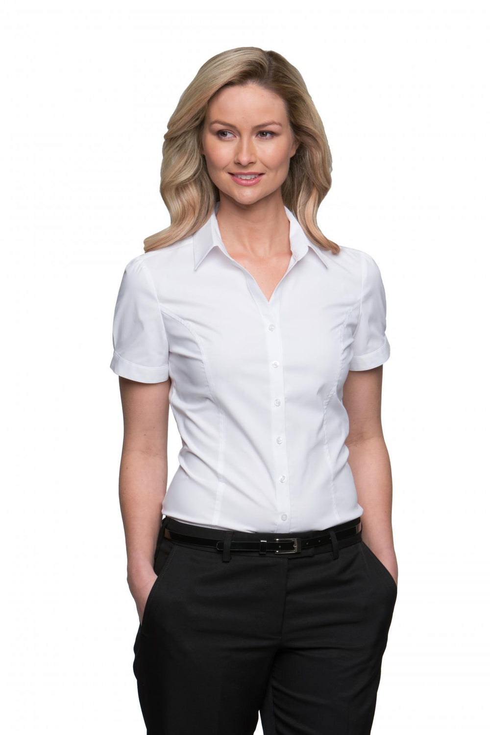City Stretch Classic Blouse Short Sleeve