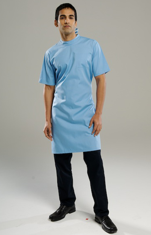 Mandarin Collar Medical Gown