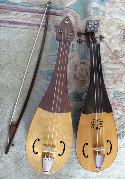 3-String Rebec Fiddle by Bernie Lehmann