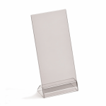 DL angled menu holder, portrait or landscape, base & PVC top