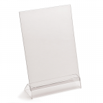 A5 angled menu holder, portrait or landscape, base & PVC top