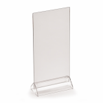 DL menu holder, portrait or landscape, base & PVC top