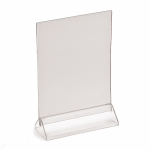 A5 menu holder, portrait or landscape, base & PVC top