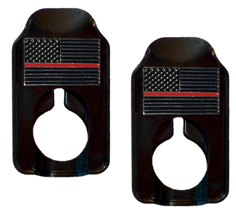 Image of Fallen Hero Firefighters Thin Red Line - Rennie's Keeper Double Eyeglasses Holder
