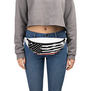 Fallen Hero Firefighter Thin Red Line Flag - Fanny Pack