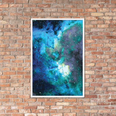 Space Framed Poster