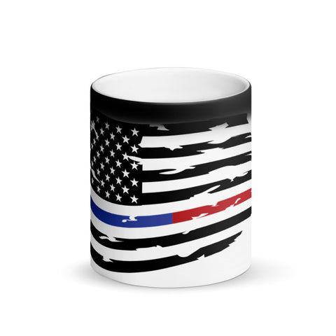 Image of Fallen Hero Thin Blue Line/Red Line Flag - Mug