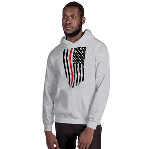 Fallen Hero Firefighter Thin Red Line Flag - Unisex Hoodie