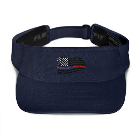 Fallen Hero Thin Blue Line/Red Line Flag - Visor